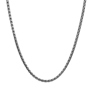 Smooth Box Chain Necklace - Silver 2mm