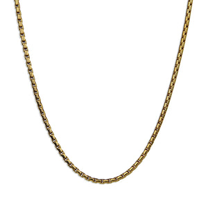 Smooth Box Chain Necklace - Gold 2mm
