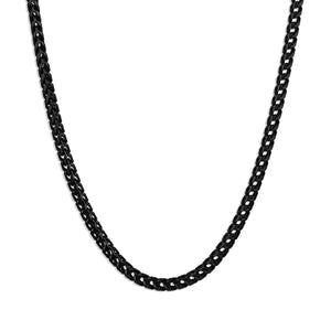 Franco Chain Necklace - Black 3mm