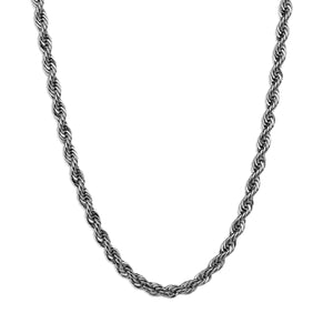 Rope Chain Necklace - Silver 4mm