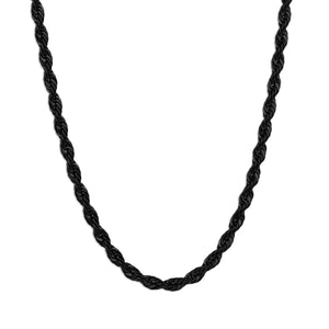 Rope Chain Necklace - Black 4mm