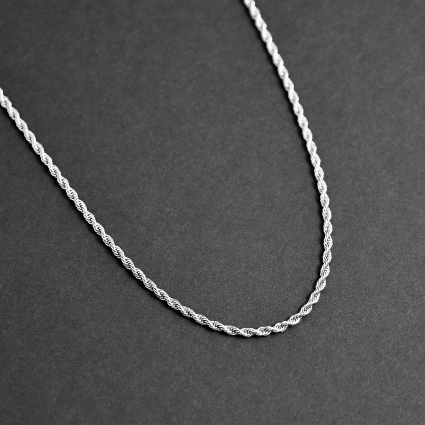Rope Chain Necklace - Silver 2.8mm