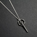 Silver Opposites Attract Necklace