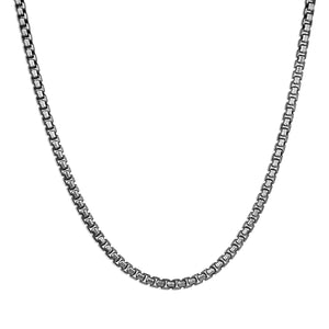 Box Chain Necklace - Premium Silver