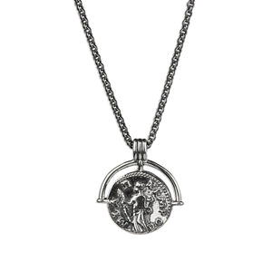 Ancient Greek Coin Necklace - Premium Silver