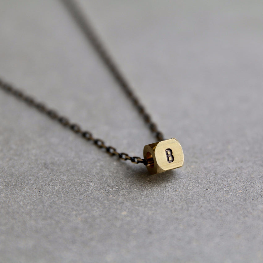 Initial Cube Necklace