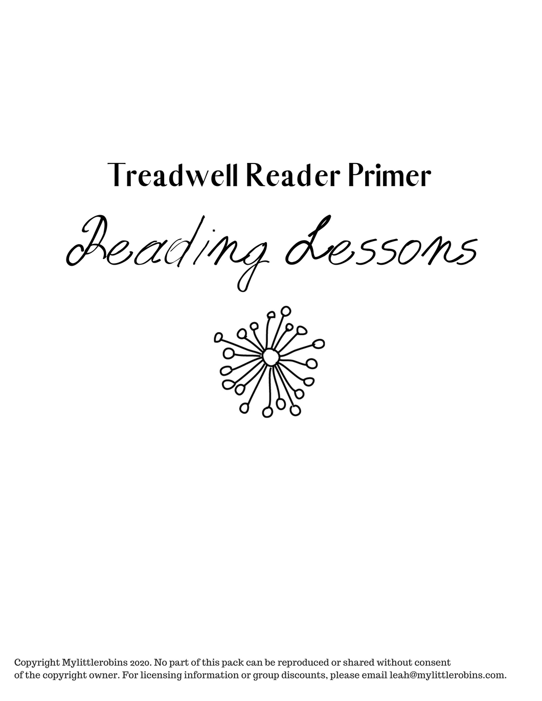 Free and Treadwell Primer Reading Lessons