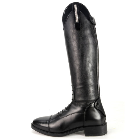 Brogini Como Piccino Patent Riding Boots Black - Child