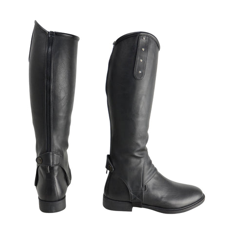 HyLAND Faux Leather Diamante Gaiters