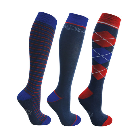 HySignature Riding Socks - Pack of 3