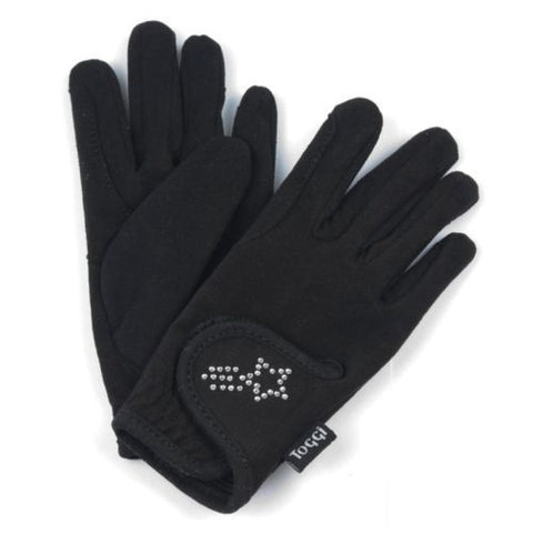 Toggi Gleam Children's Diamante Riding Gloves