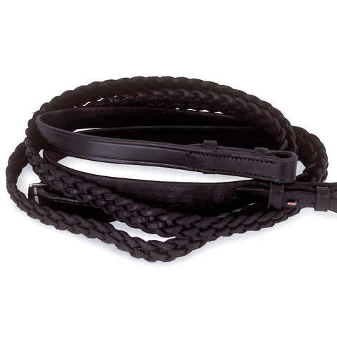 Windsor Leather Plaited Reins