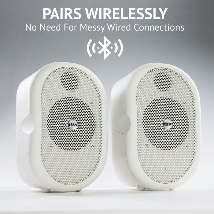 LyxPro Pair of Mini Bluetooth 40-Watt Active Speakers