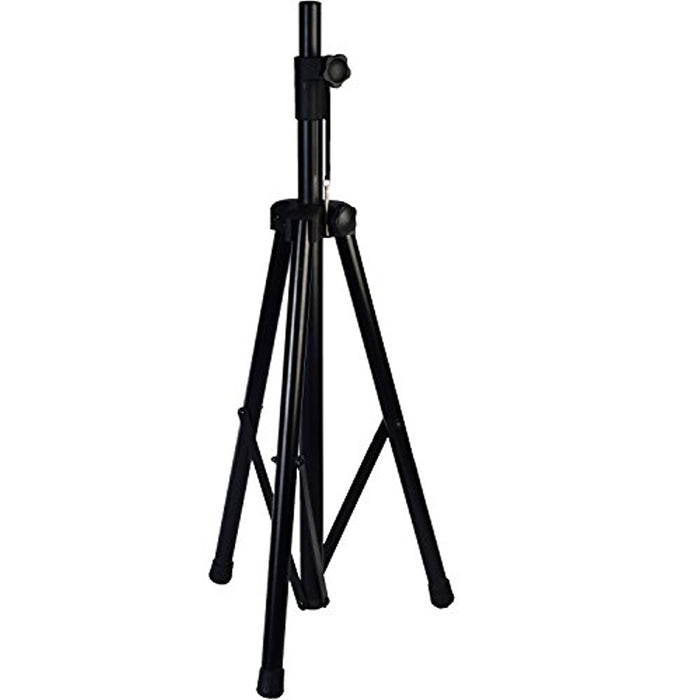 Lightweight Speaker Stand, Adjustable Height, Folding Tripod Design