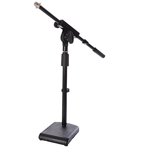 Kick Drum Mic Stand, Low Profile Height Adjustable Mic Boom Stand
