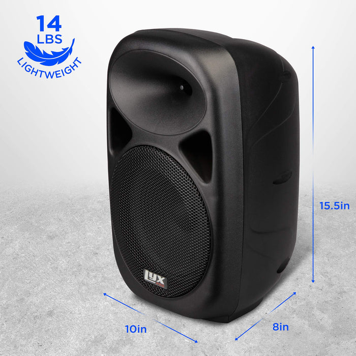 LyxPro Recharchable Speaker System and Battery with SPA-8 System and 70 Watt RMS Power