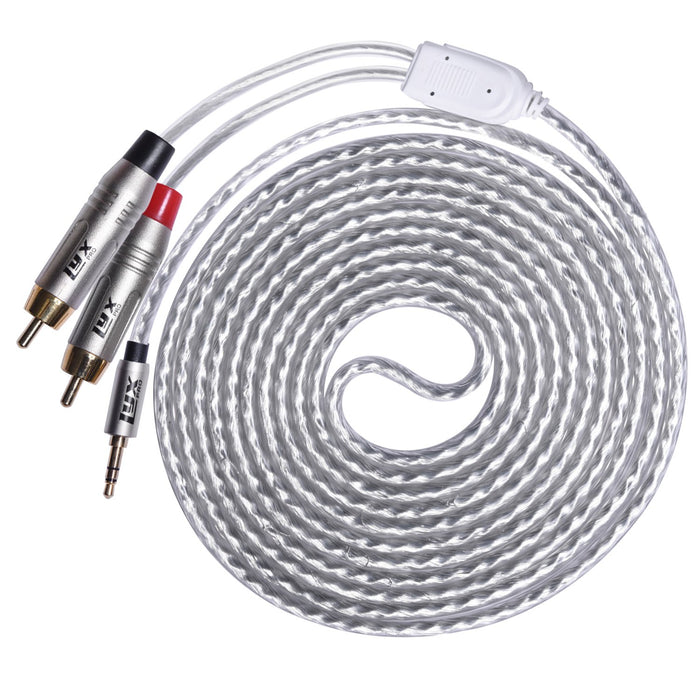 LyxPro 10 feet  Shielded Y-cable with RCA Connectors