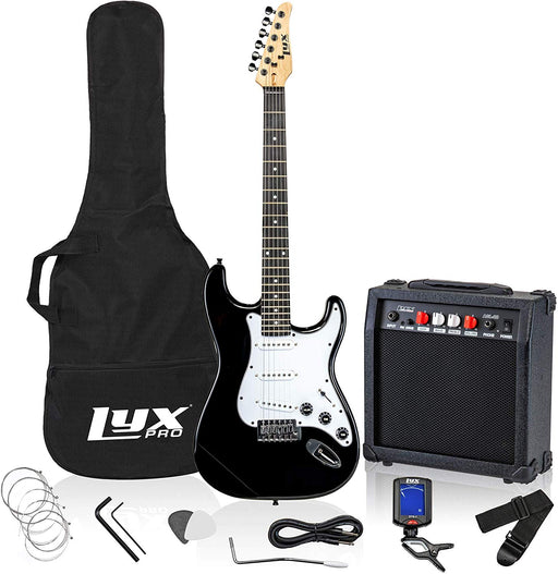 "LyxPro Full-Sized 39"" Electric Guitar Kit With 20 Watt AMP – Rosewood"