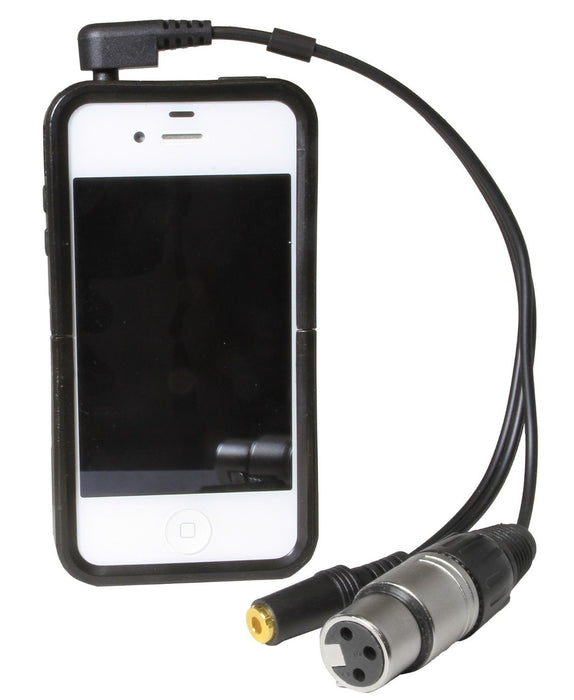 LyxPro XLR 10 Inches Cable w/ stereo 3.5mm Mini Jack Compatible with iPhone, iPod, iPad Touch and Other Smart Phones