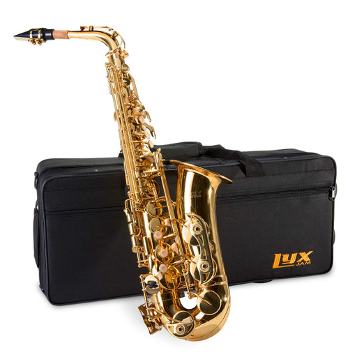 All-in-one LyxJam Alto Saxophone with Complete Cleaning Kit for Beginners