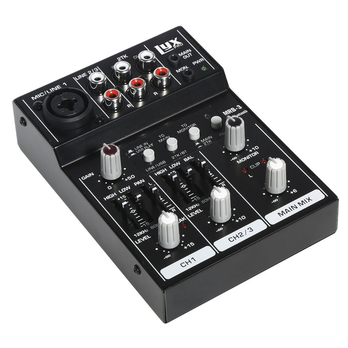 LyxPro MRB3 3-Channel Audio Mixer