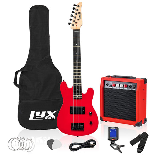 "LyxPro 30"" Electric Guitar for Kids and Beginners with with 20 Watt AMP – Red"
