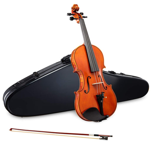 LyxJam Full-sized Spruce and Maple Violin Set with Free Black Carry Case