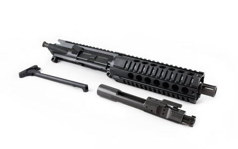 "300 Blackout Pistol Upper (7.5"" Barrel & 7"" Free Floating Quad Rail) AR 15 Complete Pistol Upper - 300-BlackoutUpper.com"