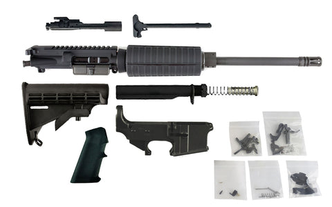 "300 Blackout (16"" Barrel, Carbine-Length, A2 Handguard) AR 15 Complete Rifle Build Kit #4 - 300-BlackoutUpper.com"