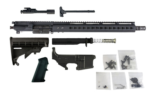"300 Blackout (16"" Barrel & 15"" Lightweight Keymod Handguard) AR 15 Complete Rifle Build Kit #5 - 300-BlackoutUpper.com"