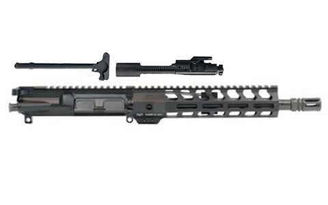 "10.5"" PISTOL LENGTH 300AAC BLACKOUT 1:8 NITRIDE 9"" LIGHTWEIGHT M-LOK FREEDOM UPPER ASSEMBLY - 300-BlackoutUpper.com"
