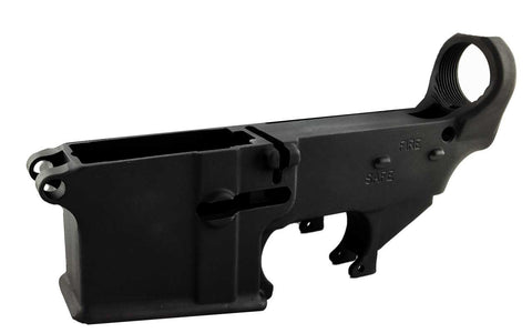Black Enhanced 80% Lower with Fire/Safe Engraving (1-Pack) - 300-BlackoutUpper.com