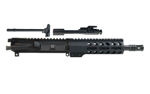 "300AAC Blackout 8.5"" Chrome-Moly Nitride Barrel 7"" M-Lok Handrail Complete Upper Assembly - 300-BlackoutUpper.com"