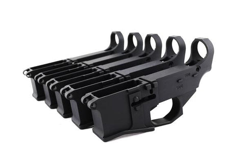 Premium Black Billet 80% Lower with Fire/Safe Engraving (5-Pack) - 300-BlackoutUpper.com