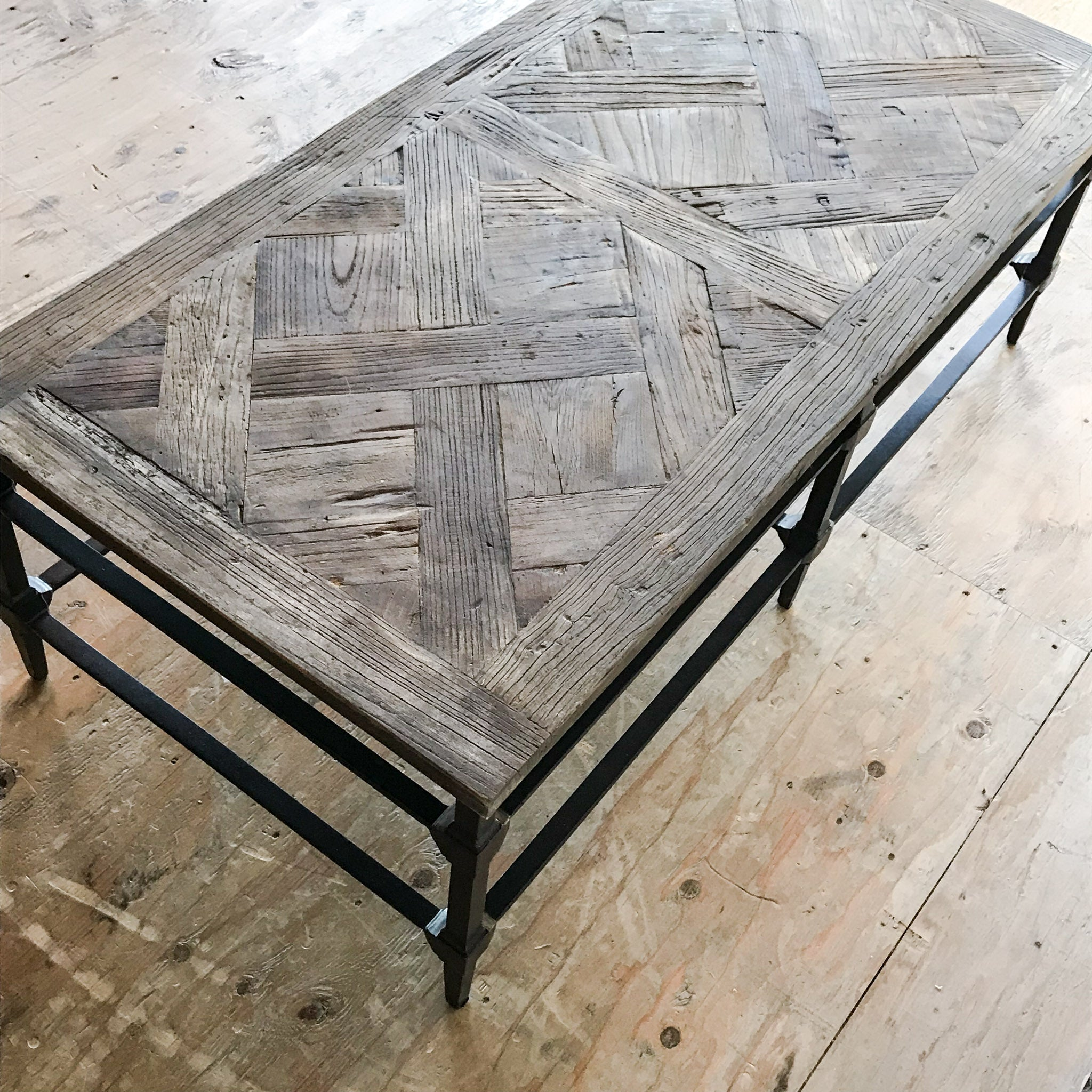 Parquet Reclaimed Wood Rectangular Coffee Table – APT