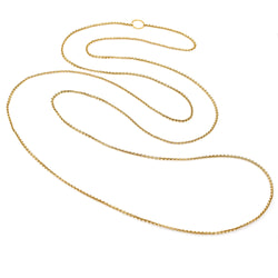 Vintage Russian  800 Fine Gold Long Chain Necklace 83 Inches