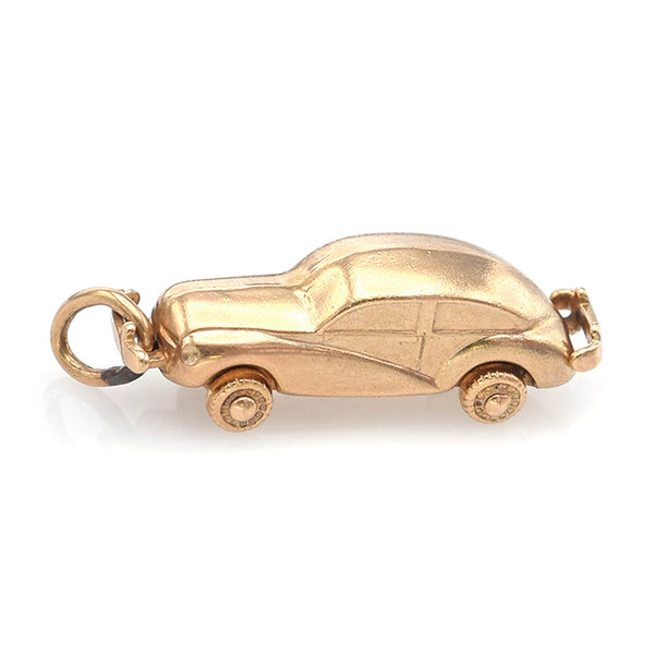 Vintage 14K Yellow Gold Car Charm Pendant 2.4 Grams