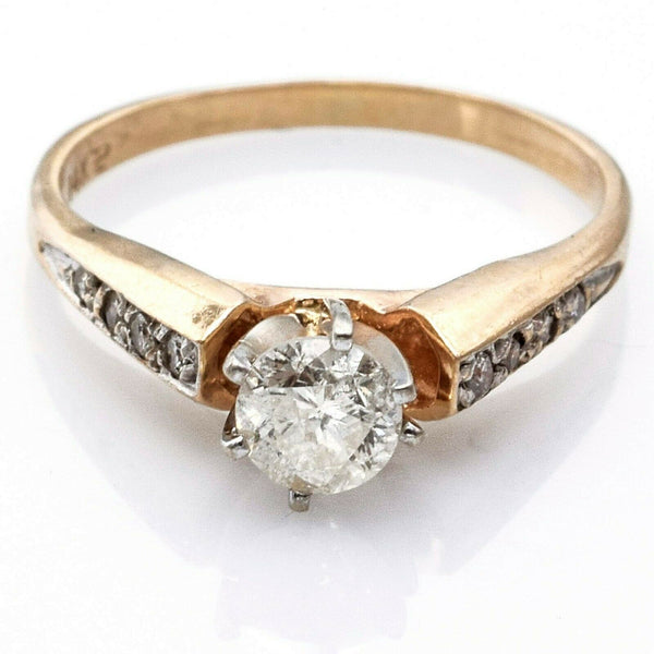 Vintage 14K Yellow Gold 0.46 Carat Diamond Band Ring