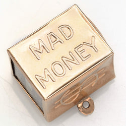 Vintage 14K Yellow Gold Mad Money Cube Charm Pendant