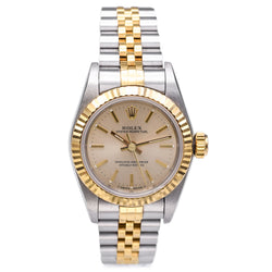 1995 Rolex Oyster Perpetual SS/18K Gold Women's Automatic Watch Ref. 67193