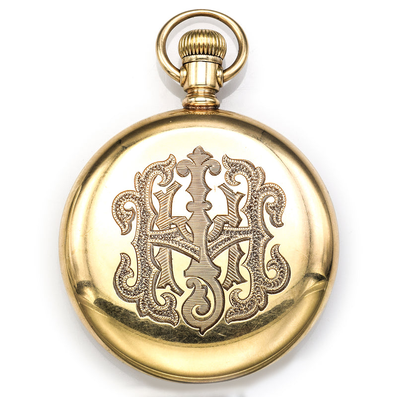 Antique 1907 Howard 14K Yellow Gold 23 Jewels Size 16 Pocket Watch 53 mm