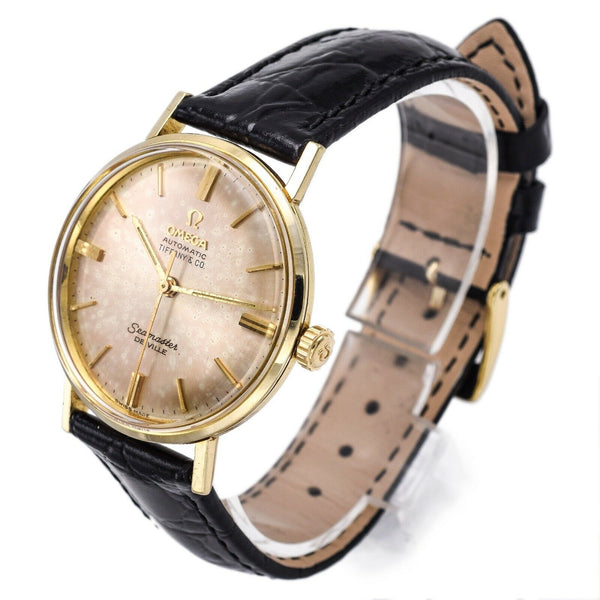 Vintage Tiffany & Co Omega Seamaster De Ville 14K Solid Gold Automatic Men's Watch
