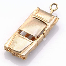 Vintage 14K Yellow Gold Car Charm Pendant