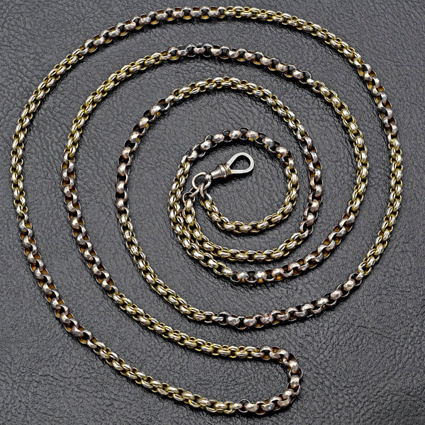 Antique 10K Yellow Gold Pocket Watch Chain
