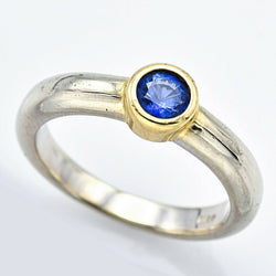 Estate 14K White And Yellow Gold Sapphire Ring