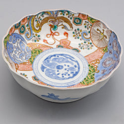 Antique Chinese Hand-Painted Phoenix Porcelain Bowl