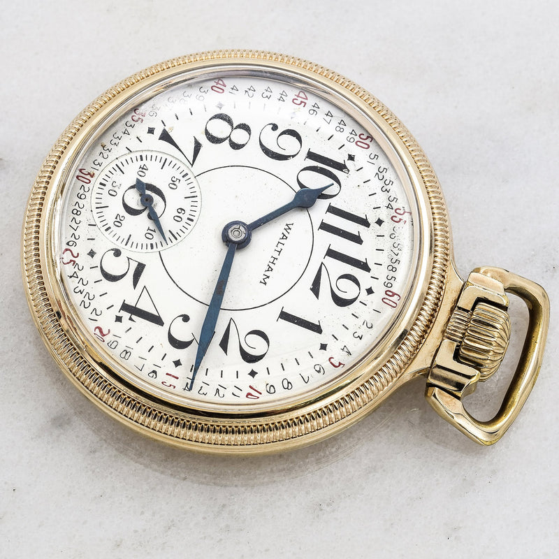 Vintage 10K Gold Filled Waltham Vanguard 23 Jewel Pocket Watch