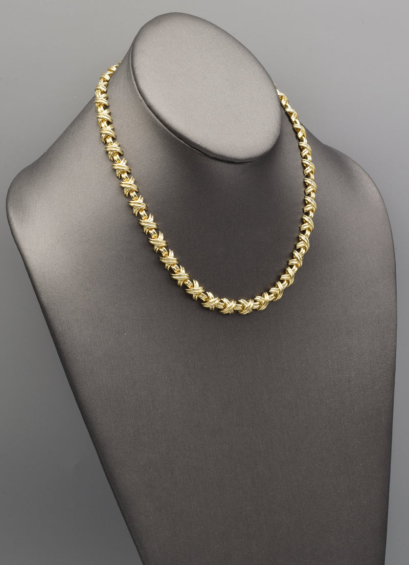 Tiffany & Co 18K Yellow Gold Signature X Collection Necklace