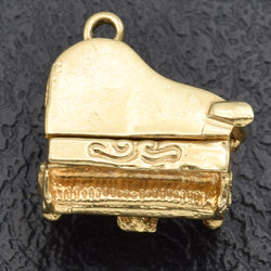 Vintage 14K Yellow Gold Openable Movable Piano Charm Pendant 3.9 Grams