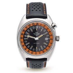 Vintage 1968 Glycine Airman SST Pumpkin Watch